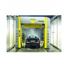 Drive-through vehicle washer and drier